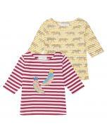 LOUISE Baby T-Shirt Ringel ¾ Ärmel Beide
