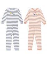 LONG JOHN RETRO Pyjama Streifen Beide