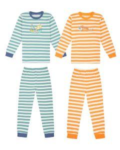 Long John_Pyjama_yellow+blue