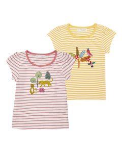 GADA Baby Ringel Shirt Raffung Beide