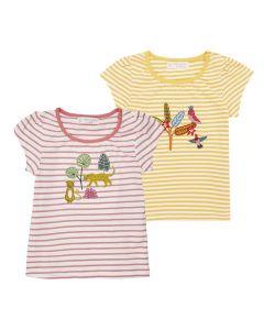 GADA Girls Stripes Shirt Gathering Both