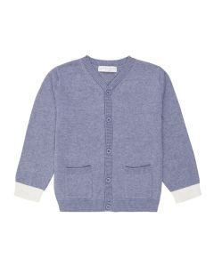Boys Cardigan in Denim Blue, Raul