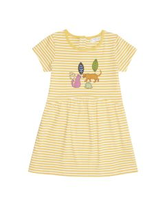 FINA Girls Summer Dress Yellow Stripes