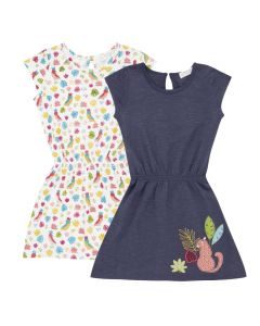 MELDA Girls Summer Dress Both