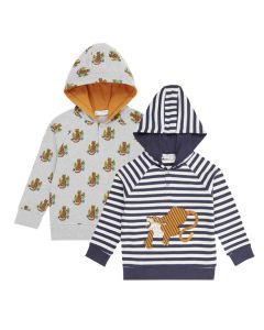 MAURO Children's Hoodie Tiger Both