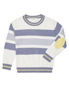 Organic Knitted Sweater with Block Stripes, Enno