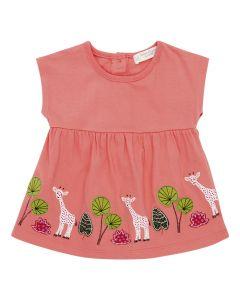 AURORA Baby Tunic Giraffes Pink
