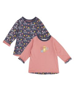 DOLORES Baby Reversible Shirt Leopards Both