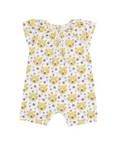 LUA Baby Short Overall Leopard
