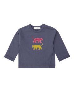 KORA Baby Sweatshirt Leoparden navy