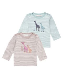 LUNA Baby Shirt Stripes Giraffe Both