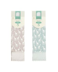 BIOS 2 Pack Muslin Giraffe Zigzag Both