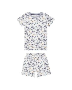KAFKA RETRO Short Pyjama Savanna Blue Grey