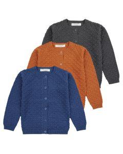 Strickjacke ELIA für Mädchen oder Jungen, In drei Farben: Blau, orange und anthrazit