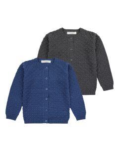 Strickjacke ELIA für Mädchen oder Jungen, In zwei Farben: blau und anthrazit