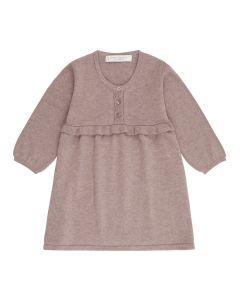 Stickkleid für Mädchen, Flora, Farbe: rosenholz