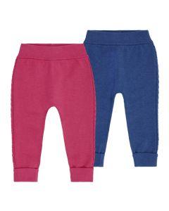 Baby Strickleggings PABLO, Farben: Blau und pink