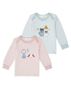 Baby-Shirt Ringel aus Fairtrade Baumwolle, Timber