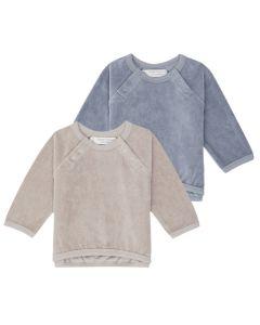 Baby Nicki Pullover, Janne, Unifarben: steinblau oder taupe