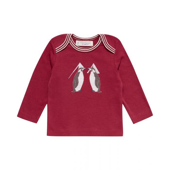 1623711-Sense-Organics-Baby-Timber-Shirt-longsleeves-red-penguin-application