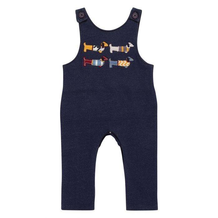 Baby Sweat Overall jeans-look with dog motif, Simba
