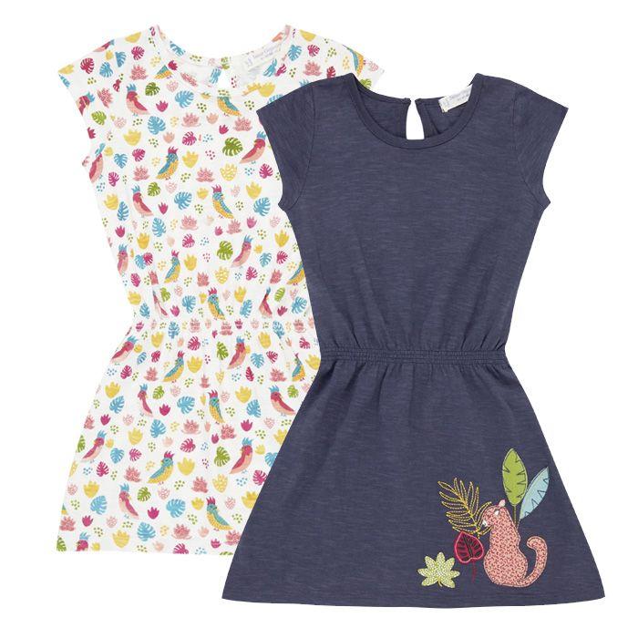 MELDA Mädchen Sommerkleid Beide