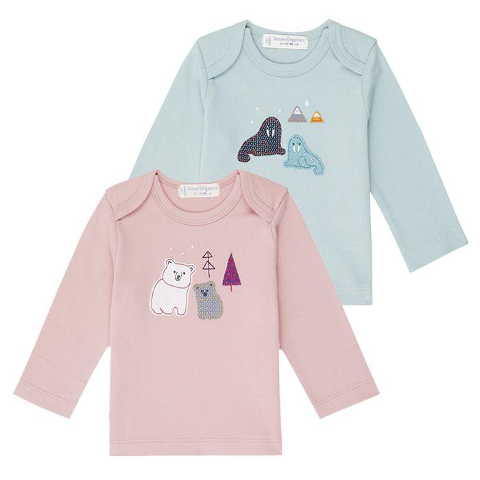 Baby-Shirt Langarm aus Fairtrade Baumwolle, Timber