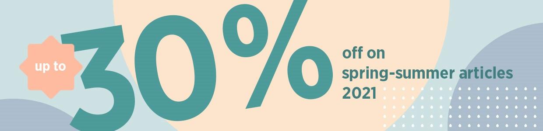 Spring Summer 2021 30% Sale