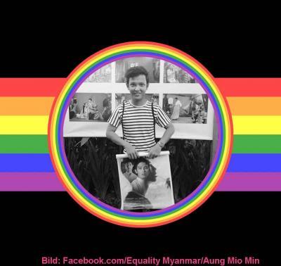 Ein Regenbogen über Myanmar
