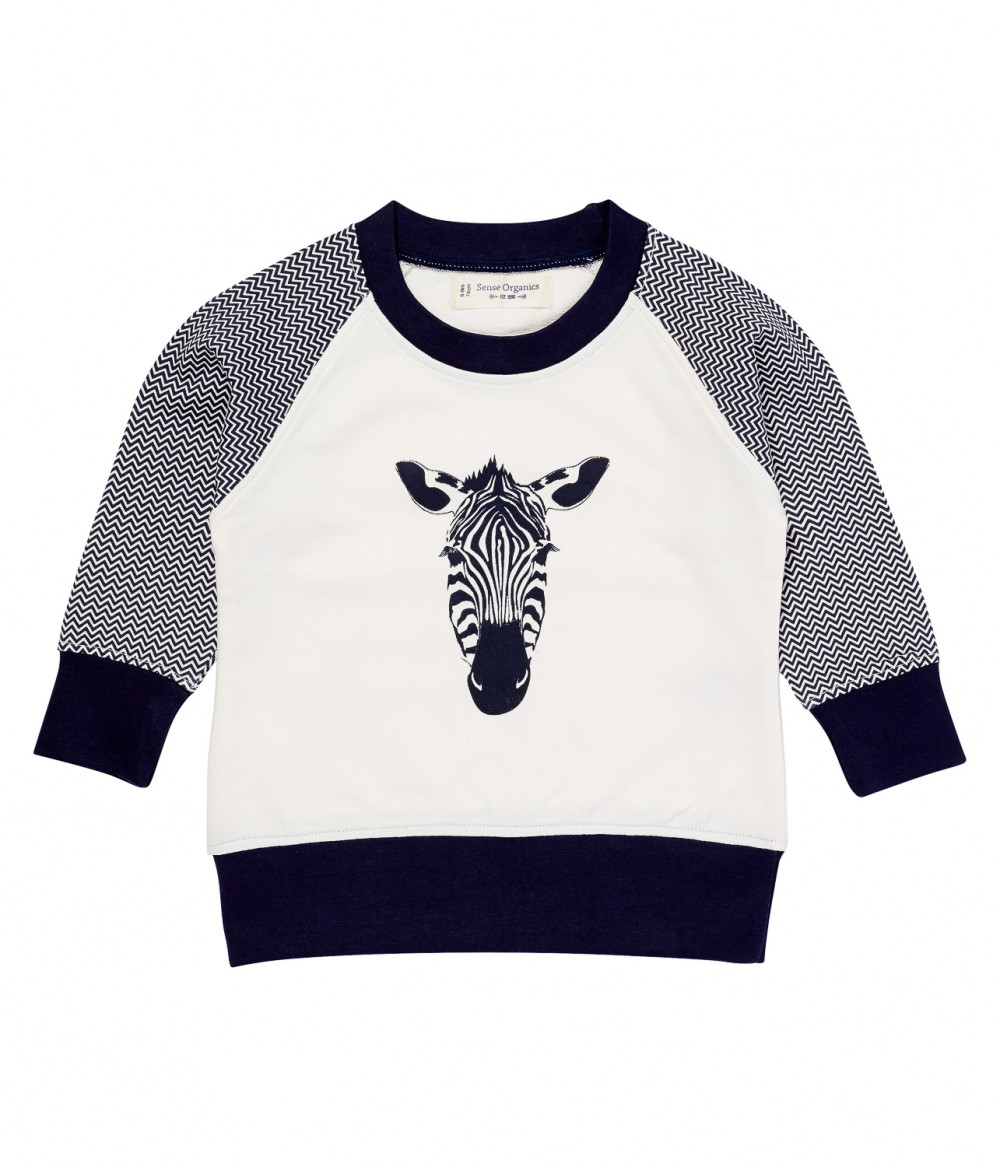 Baby Boy Sweater long sleeves Taio, zebra print