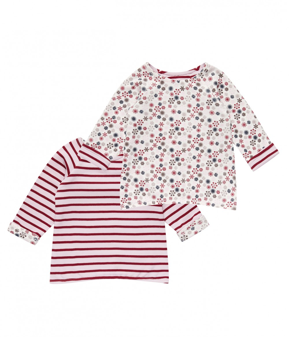 Girl Reversable Shirt stripes, Dolores | Organic baby clothes for girls