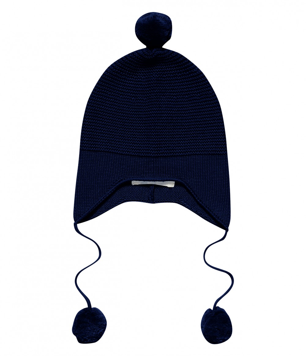 Baby Knit Hat black navy, Marcel | organic baby accessories