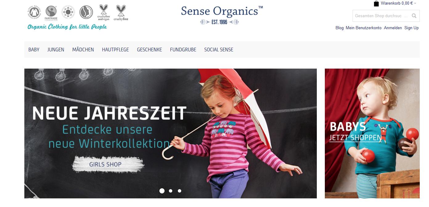 Neue Herbst Winterkollektion von Sense Organics