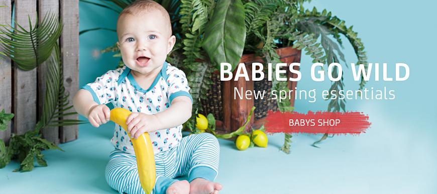 Sense Organics Spring Summer 2016 Baby Organic Clothing - ready for the jungle